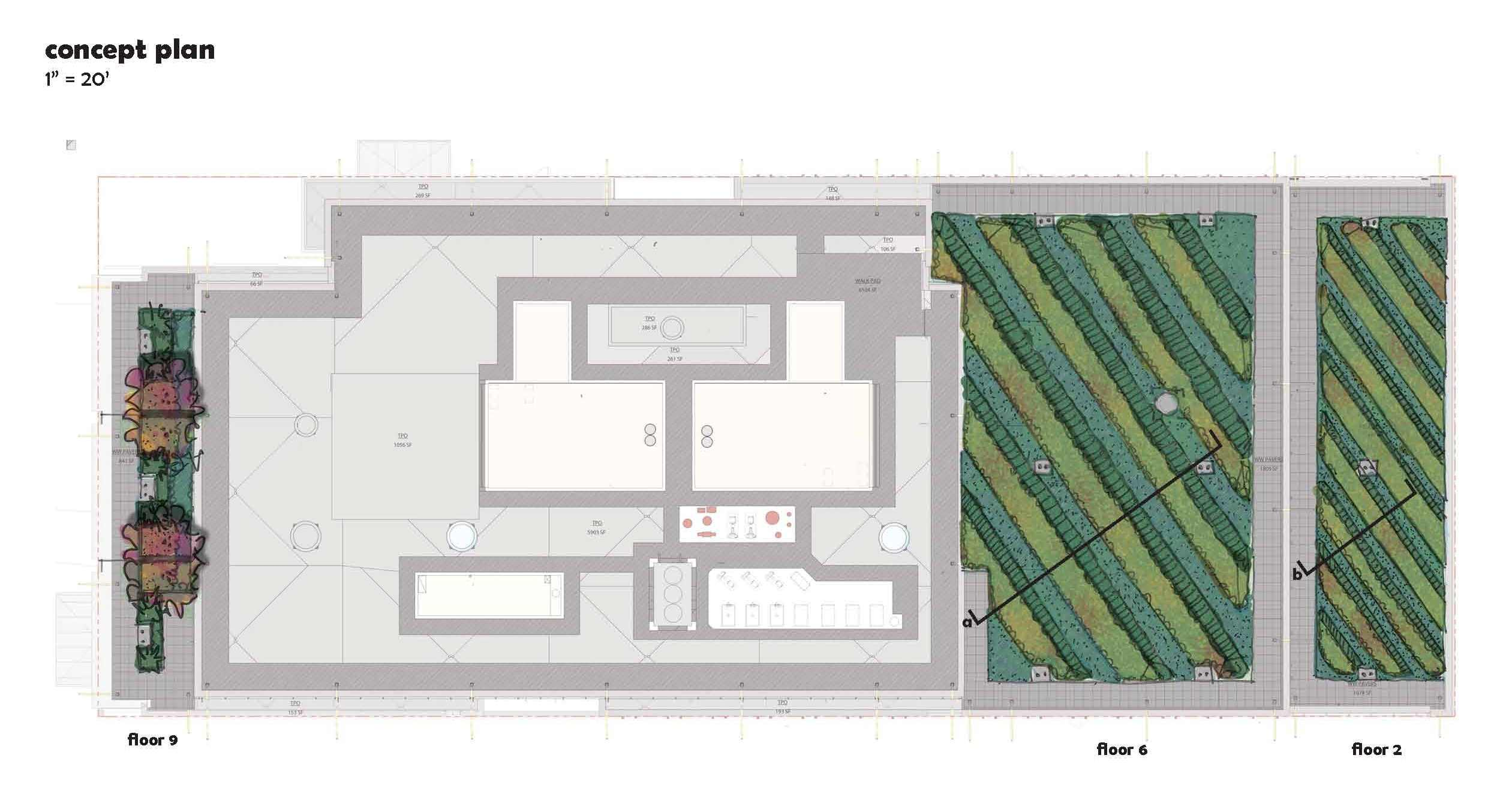Green roof house plans 28 images 1656 square feet for Roof garden floor plan